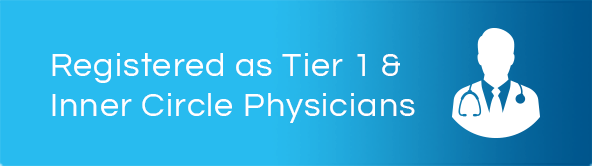 Registered as Tier 1 & Inner Circle Physicians