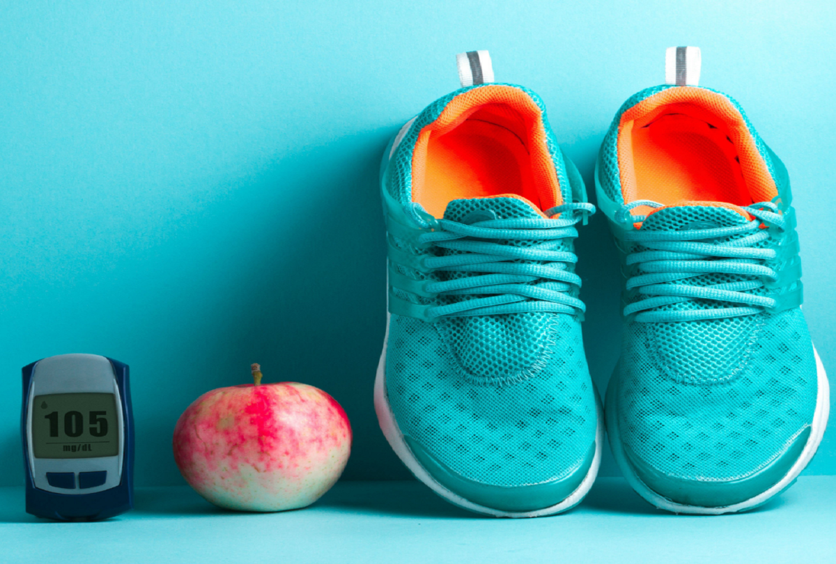 Diabetic shoes and apple